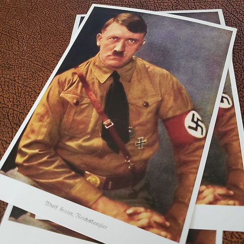 Adolf Hitler, German Reichskanzler - reproduction of the early postcard of the Führer of the Third Reich.