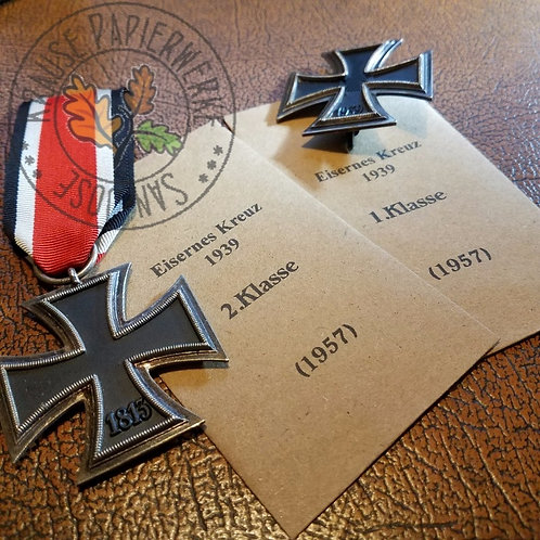 Presentation envelope for Iron Cross 1957 1st & 2nd Class