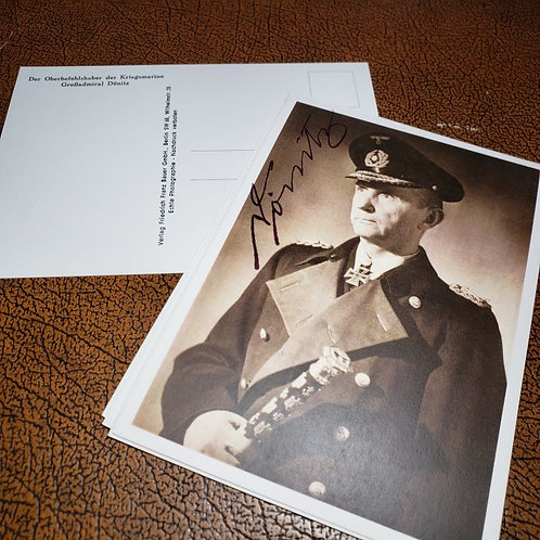 Karl Dönitz - reproduction of a postcard from the Third Reich. Optionally autographed by the Grand Admiral.