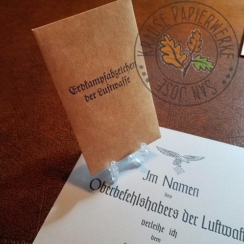 Luftwaffe Ground Assault Badge - Envelope