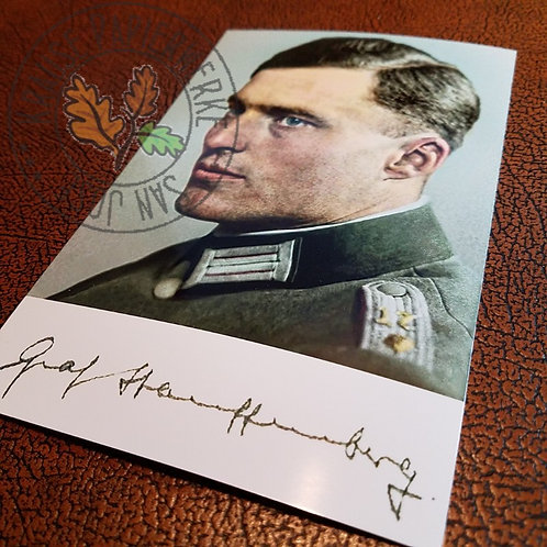 Claus von Stauffenberg - signed photo. Most known participant of the operation Valkyrie.