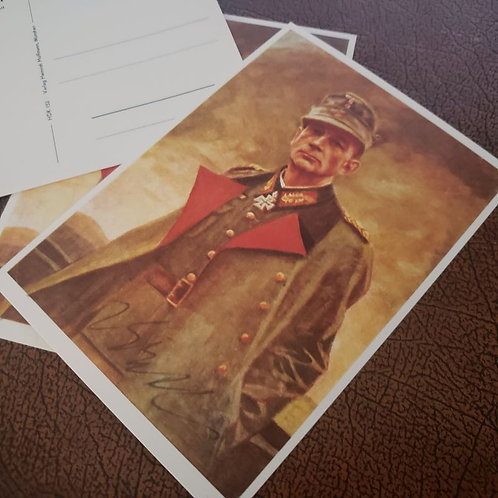 Signed postcard of Eduard Dietl -  commander of 20th Mountain Army of the Wehrmacht (World War 2)