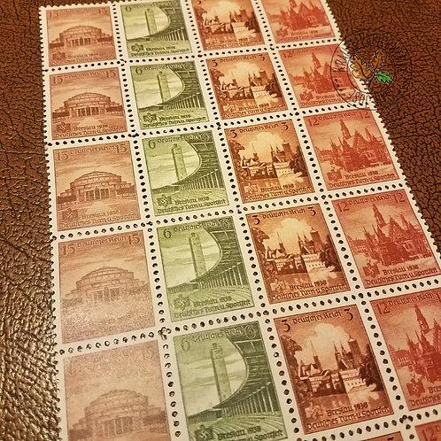 Breslau (Wrocław) postage stamps from Nazi Germany 1938. Deutsches Turn-und-Sportfest Briefmarke.