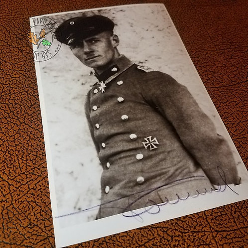 Erwin Rommel as a Leutnant in World War I - reproduction of signed (autographed) portrait photo.