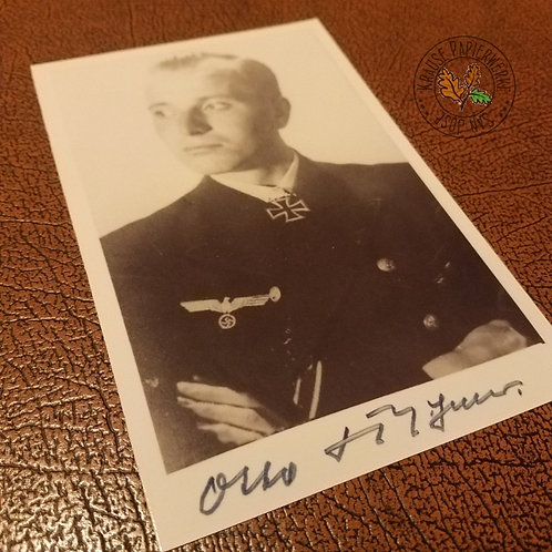 Otto Kretschmer - the most successful German U-boat commander in the Second World War - signed photo (autographed picture)