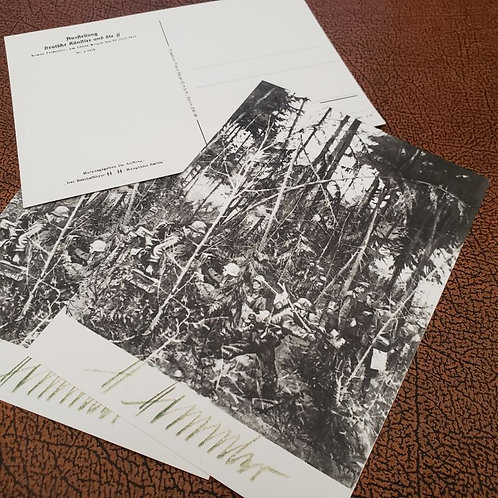 Waffen SS - the first morning of Barbarossa - a postcard signed by the Reichsführer-SS Heinrich Himmler