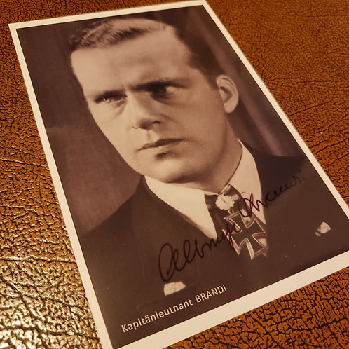 Albrecht Brandi - signed / autographed black and white photo (German Kriegsmarine U-Boot commander)
