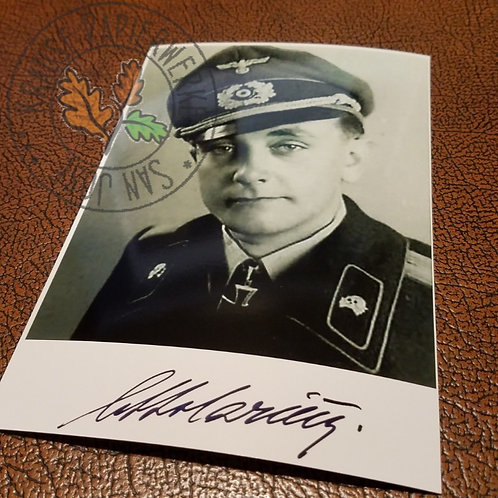 Otto Carius - was a German tank commander in the army of Nazi Germany  - signed photograph