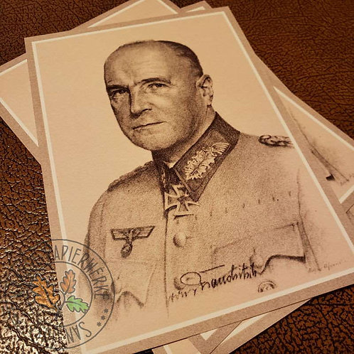 Generalfeldmarschall (Wehrmacht field marshall) Walther von Brauchitsch - reproduction of a postcard