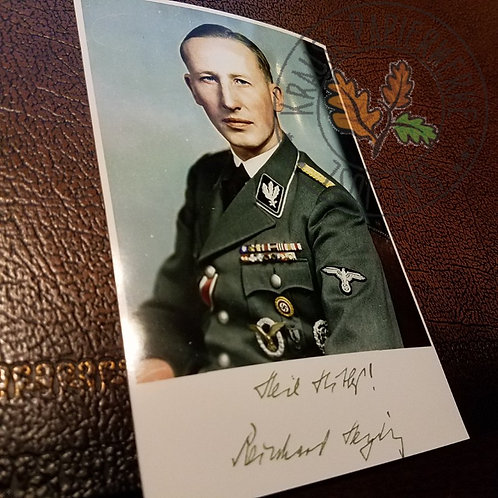 Reinhard Heydrich - signed photo. Main author of the final solution to Jewish question (aka. Holocaust)