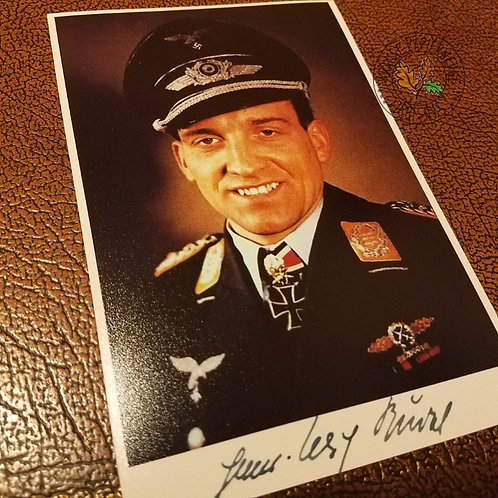 Hans-Ulrich Rudel (pilot of Stuka bomber) - signed photo highest decorated German soldier of WW2 of (autographed picture)