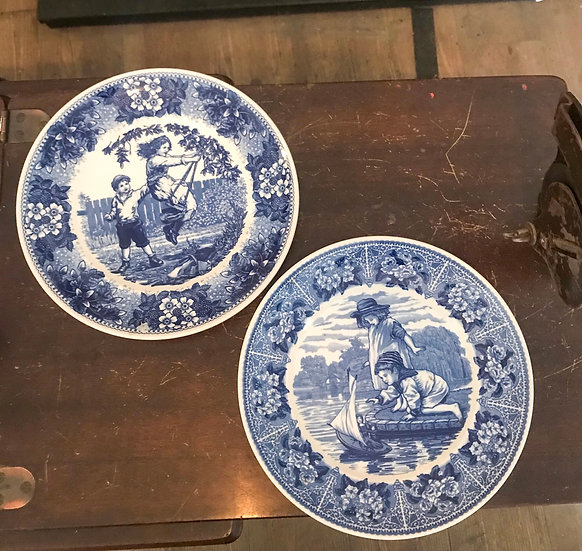 Wedgwood QueensWard Blue and White Plates