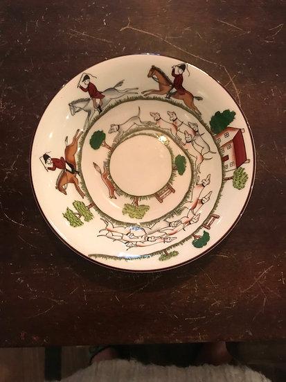"Coalport ""Hunting Scene"" 6 inch bowl"