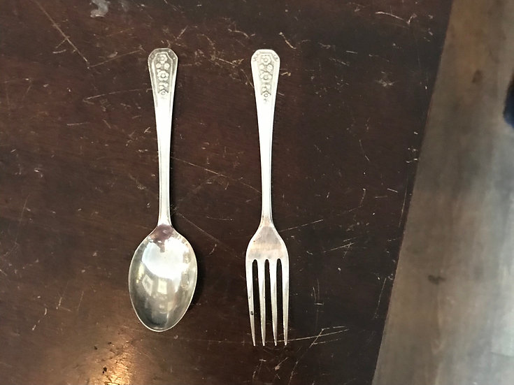 Silver Plate Spoon and Fork