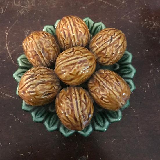Vintage Ceramic Walnuts , By Subtil , Portugal