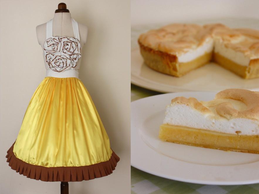 Satin Lemon Meringue Pie with a Crisp Linen Ruffle Crust