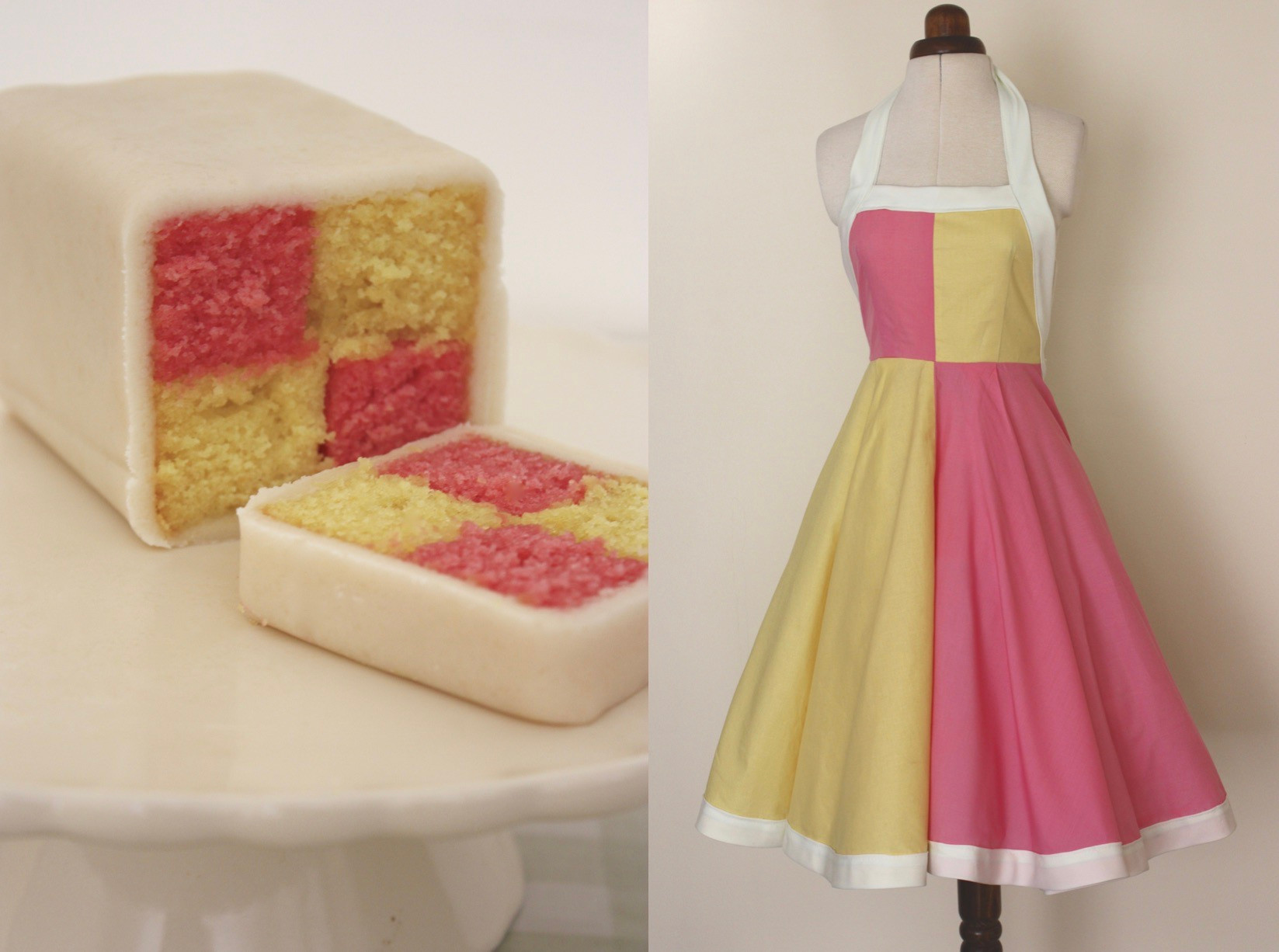 Cotton Poplin Battenberg with Marzipan Details
