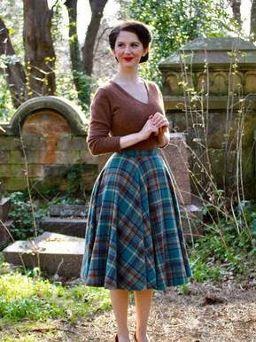 Highland Wool Skirt (Self Drafted)