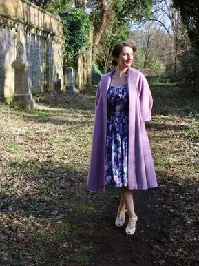 Lilac Wool Swing Coat (Simplicity 8509)