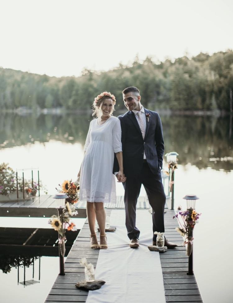 Justin and Olivia at Garland Pond, ME