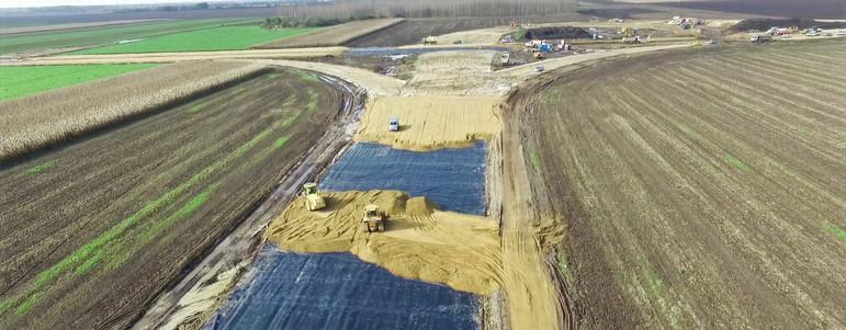 M35-M4 autópálya építése