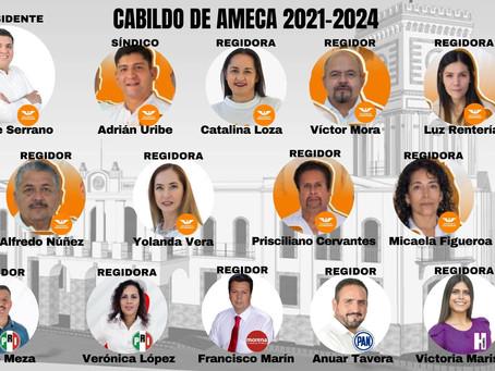 ASÍ ESTARÁ CONFORMADO EL CABILDO DE AMECA 2021-2024