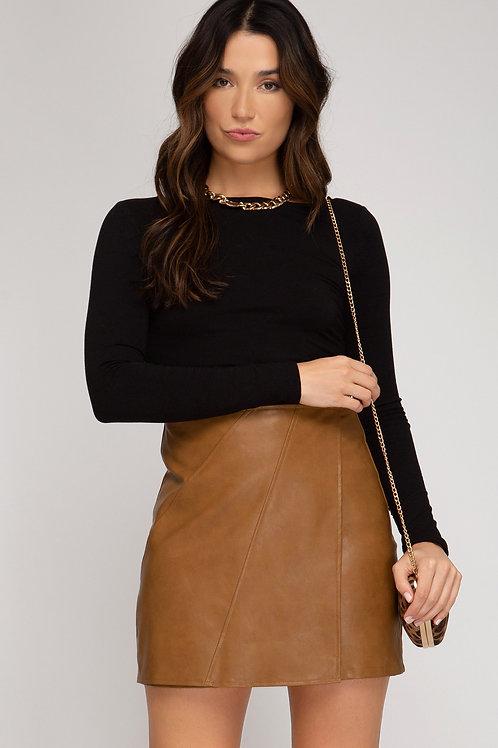 Bonnie Faux Leather Skirt