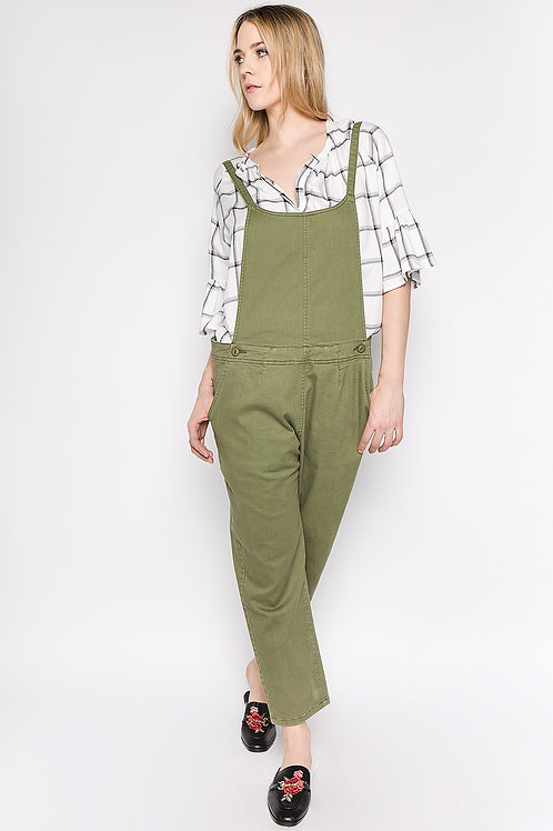 Olive Overall Pants