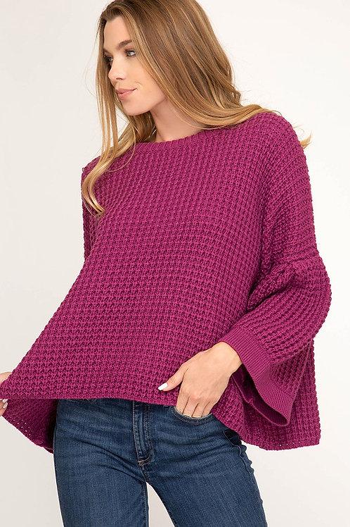Long Bell Sleeve Sweater Top