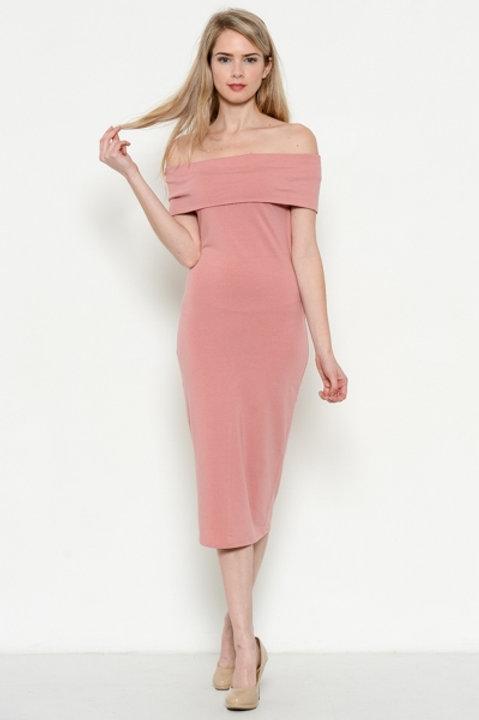 Dusty Rose Sleeveless Dress