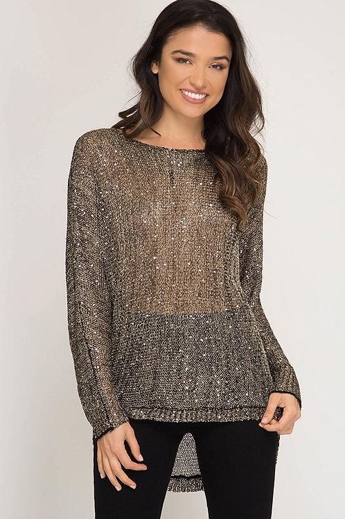 Lurex Sequin Sweater