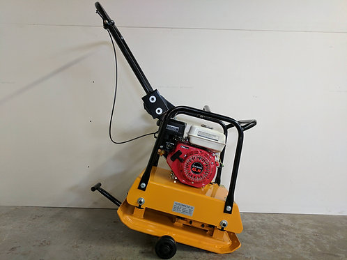 C-120 18 Inch Commercial GX200 Plate Compactor + Wheel Kit