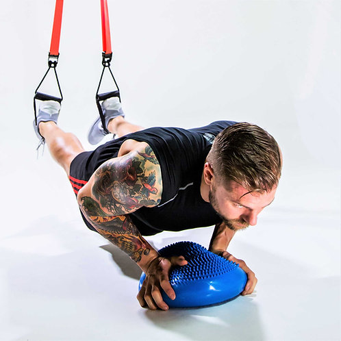 Inflated Balance Stability Wobble Cushion with Deluxe Air Pump