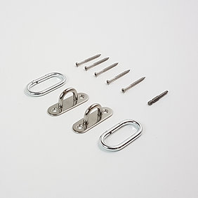 2-Pack Stainless Steel Oblong Pad Eye Anchor System