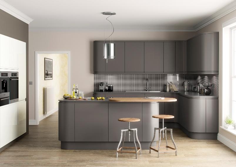 Cashmere Kitchen Units Laminate Floor