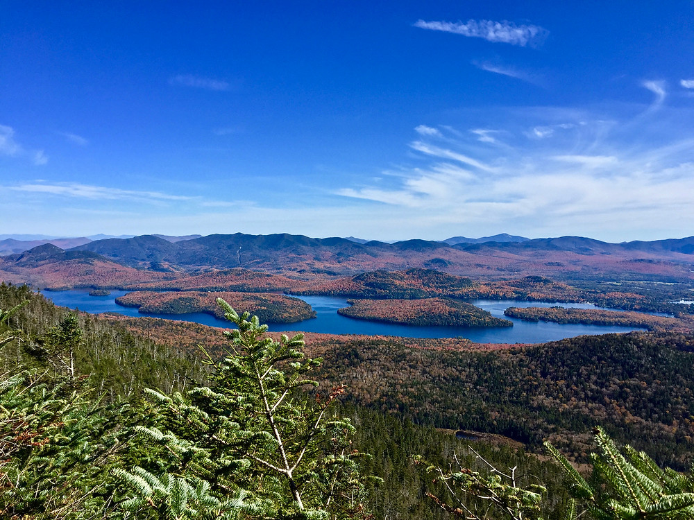 Fall views of Lake Placid from Mckenzie Mountain