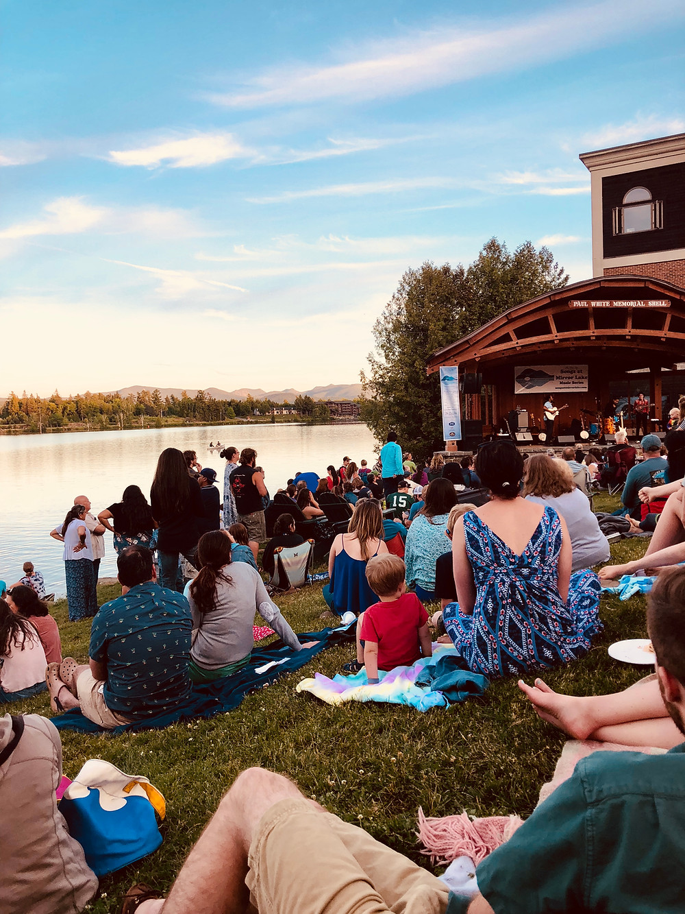 Songs at Mirror Lake Tuesdays During the Summer in Lake Placid
