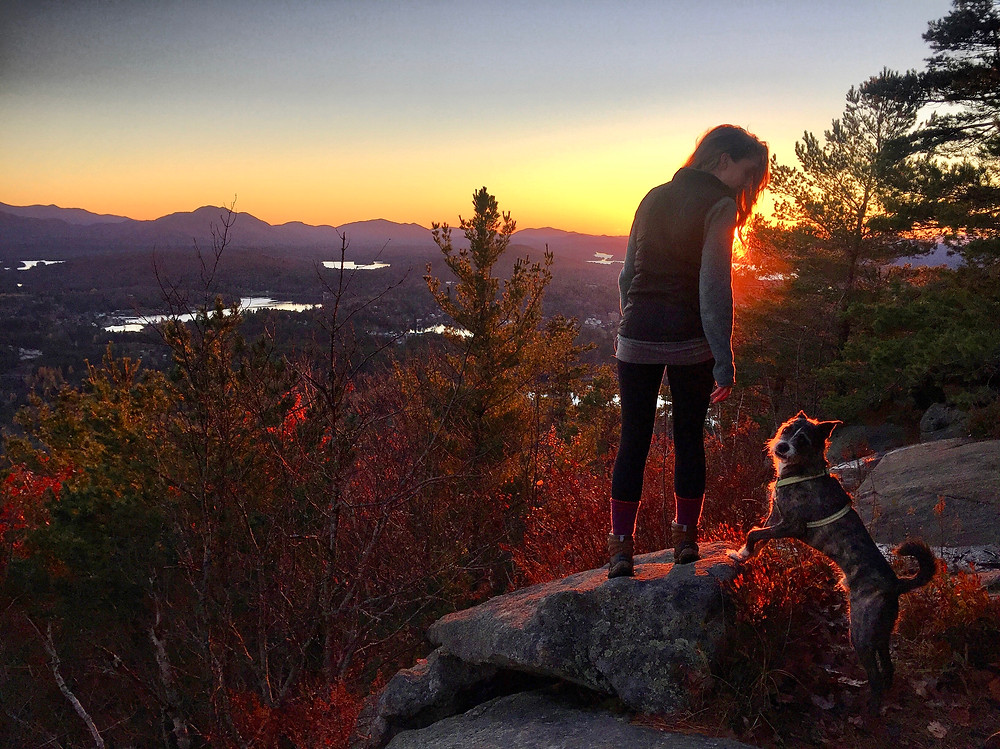 Adirondack fall sunset on Baker