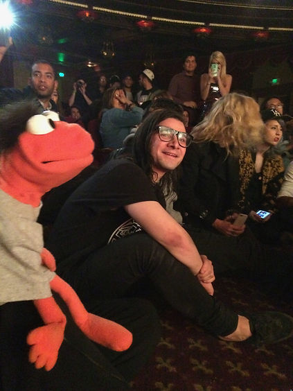 DJ Skrillex Birthday Party with Puppets in Downtown LA