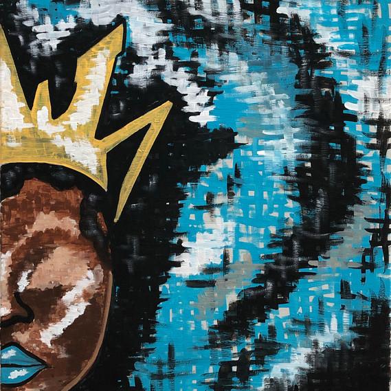 Afro Blue Queen