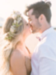 wedding photo - couple kissing