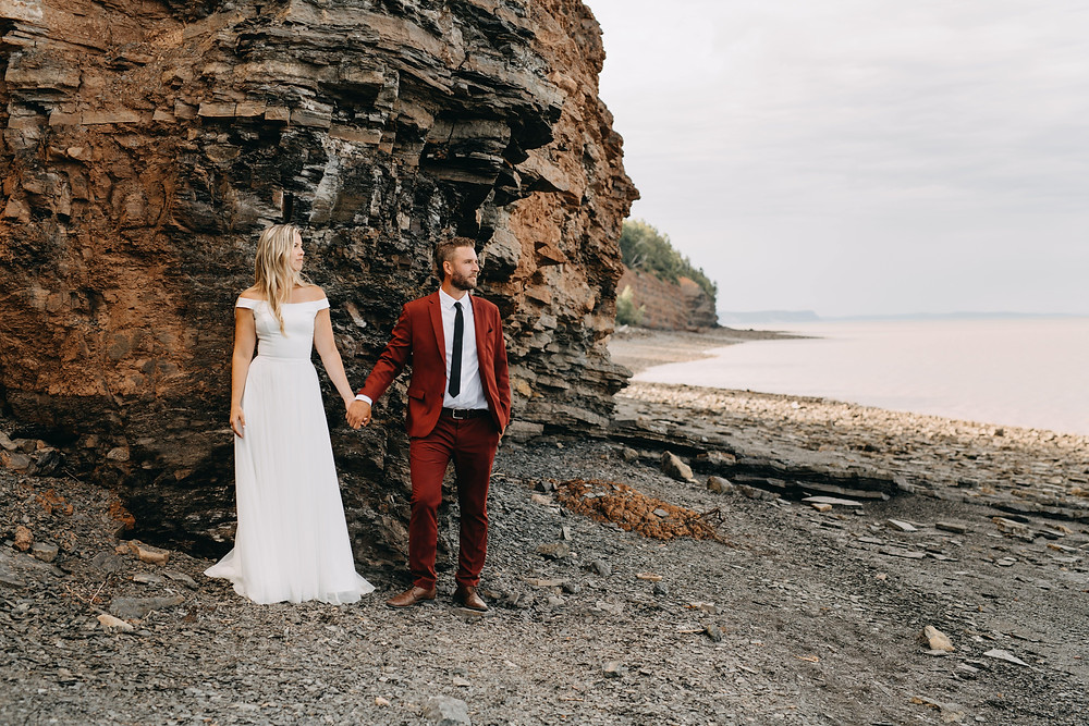 Nova Scotia Wedding Elopement by the ocean.