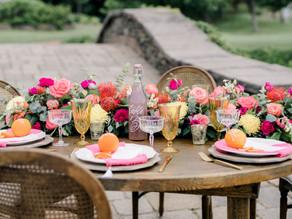 Allison & Chris' Bright & Colorful Fox Harb'r Wedding