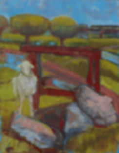 Sheep with Rusty Frame