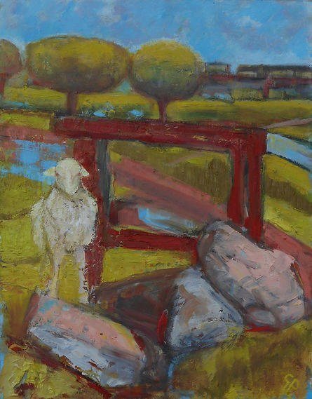 Sheep and Rusting Frame, Sharptor