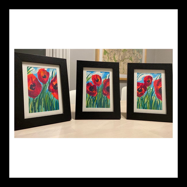 Poppies Series Commission: SOLD