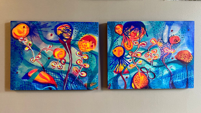 Ocean Light Diptych Commission: SOLD