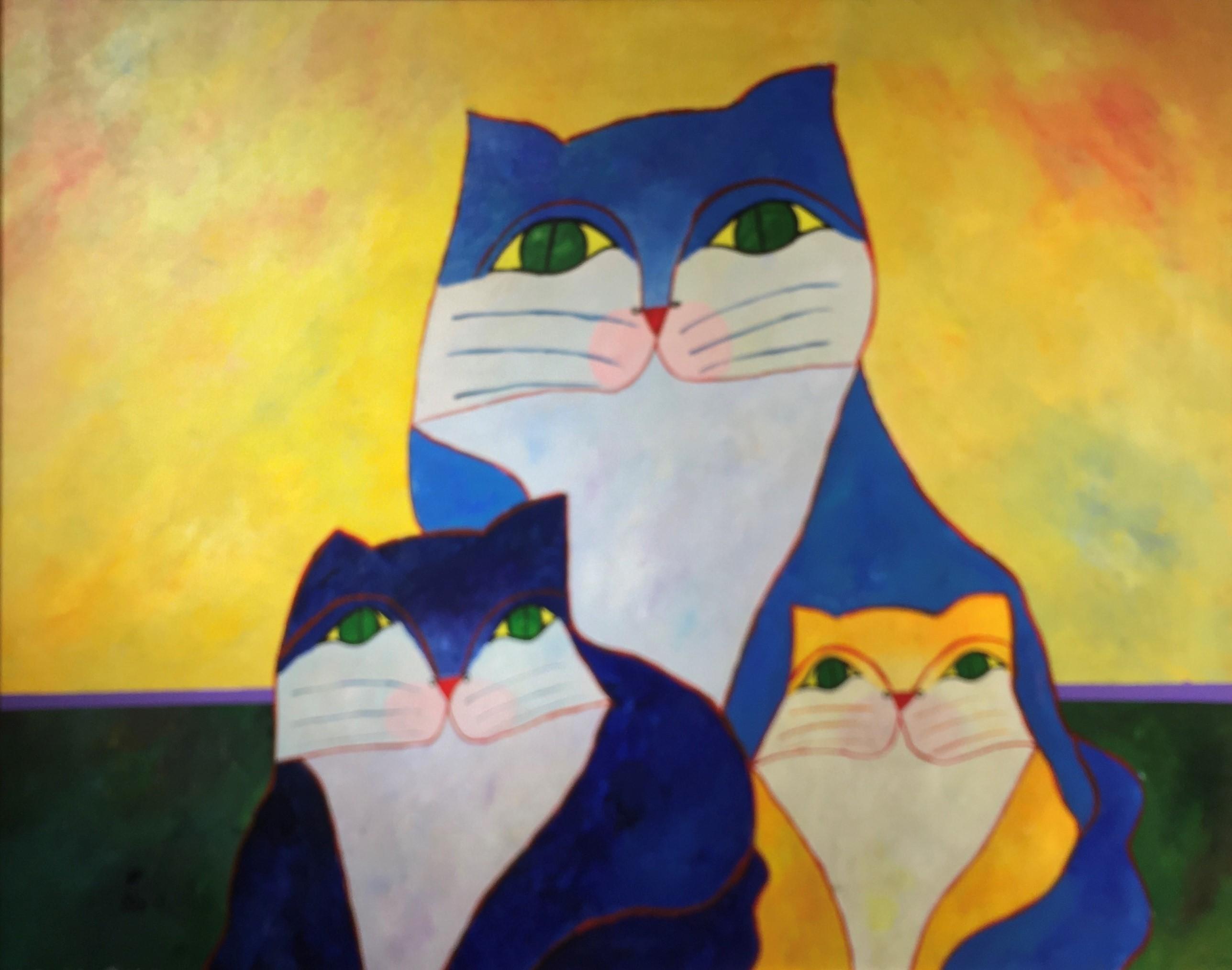 Família de Gatos - Aldemir Martins
