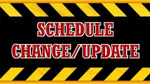 Pee Wee Schedule Change