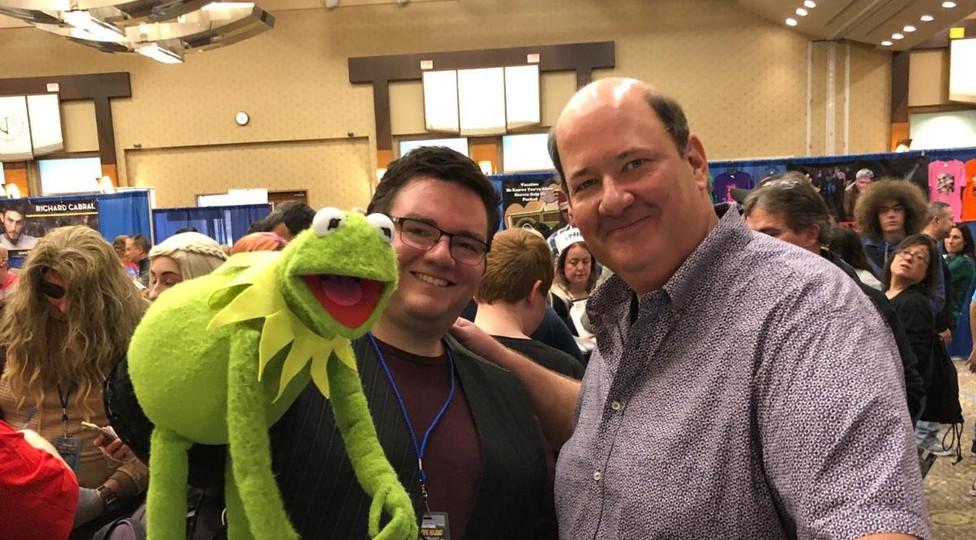Kermit with Brian Baumgartner